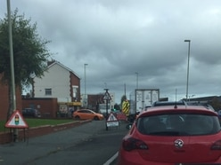 Drivers frustrated at Oswestry traffic chaos during sewer work