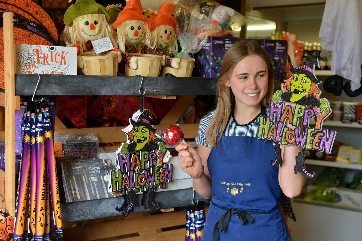 Rebecca Owen in the farm shop