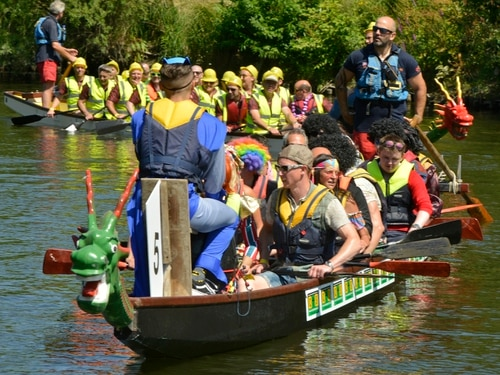 Record number of rowing teams attend annual Shrewsbury Dragon Boat Festival - in pictures