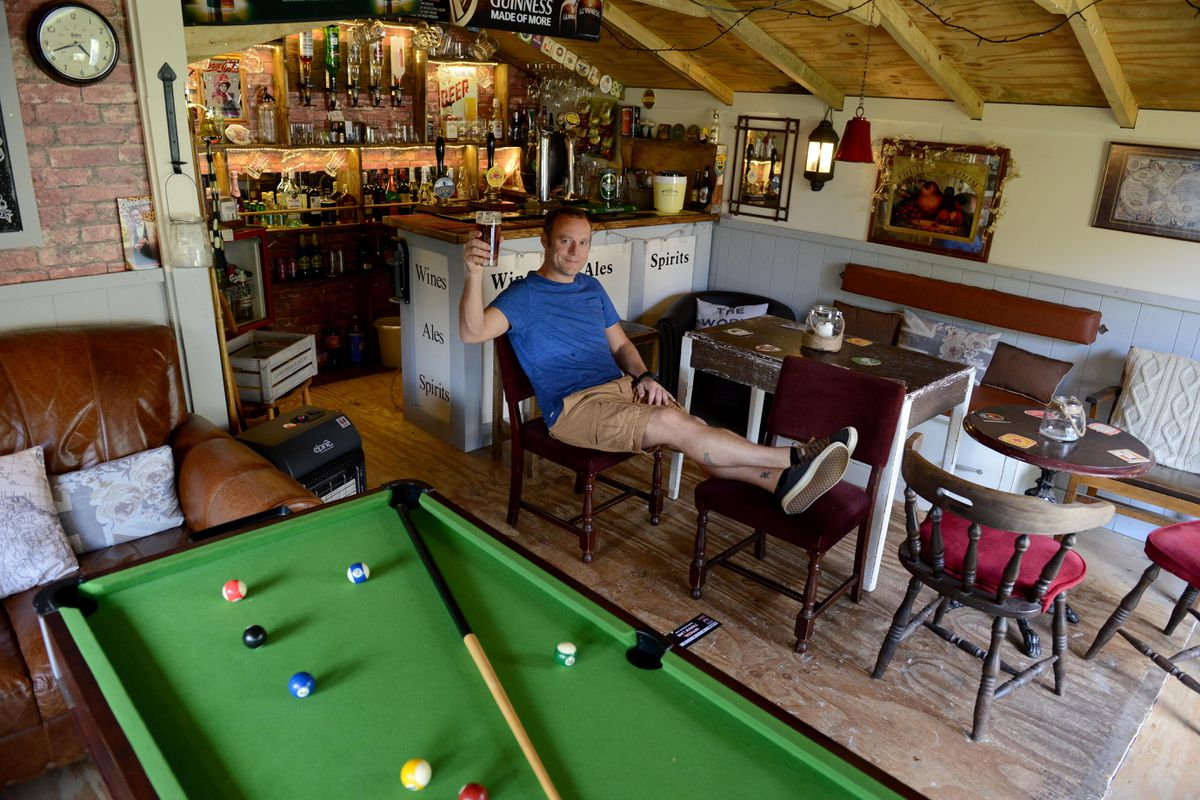 Lee Morris' homemade pub in Albrighton is gaining national attention