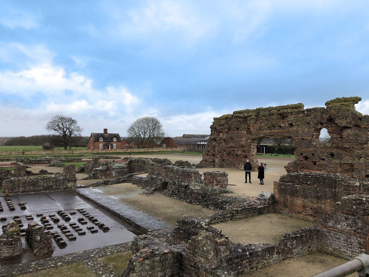 The Roman city of Viroconium, now Wroxeter near Shrewsbury