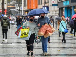 Shoppers in Cardiff city centre