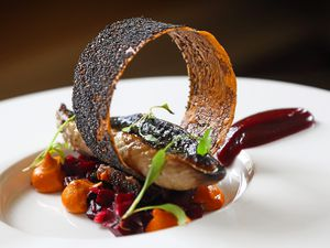 The mackerel and beetroot dish