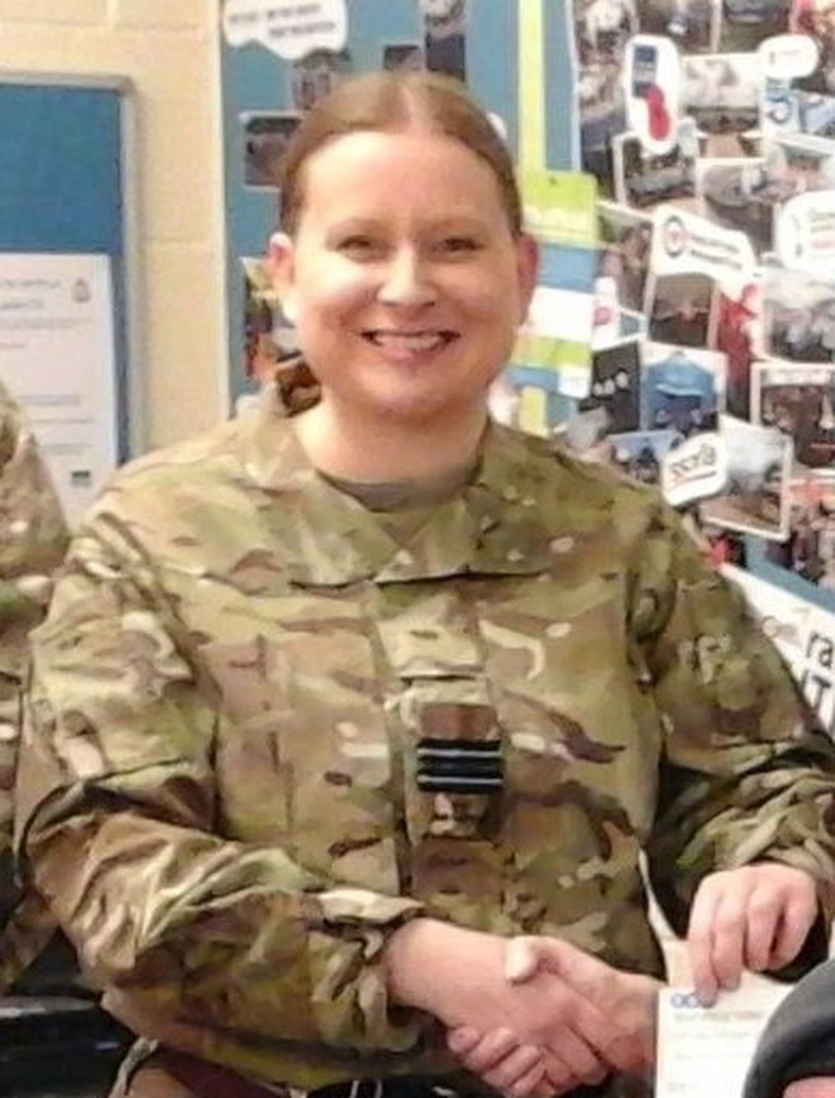 Commanding officer Flight Lieutenant Liz Holmes.