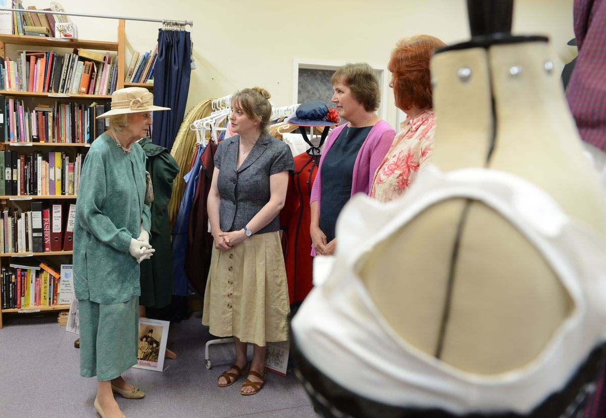 Meeting staff from the costume project at Enginuity