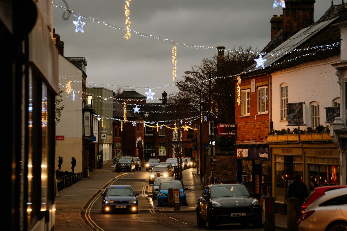 Cheshire Street is lit with festive decorations once again