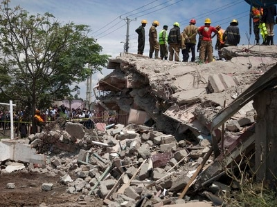 Four missing in building collapse near Kenyan capital