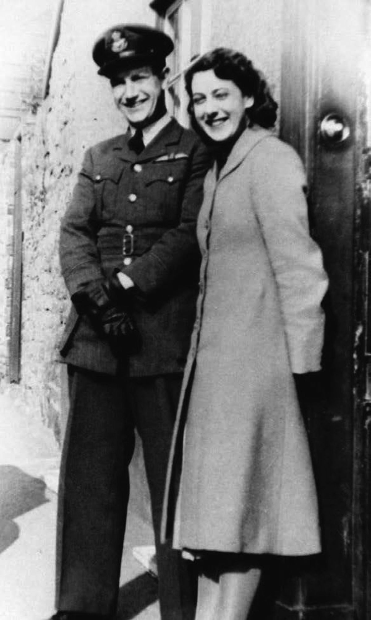 Jack at home in Knighton with an unidentified friend.