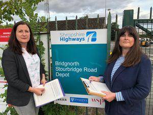 Shropshire Councillor Julia Buckley and Bridgnorth Town Councillor Rachel Connolly