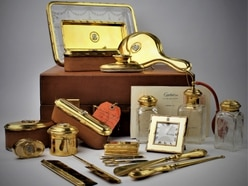 Gold Cartier set sells for a record £32,000 at Shropshire auction