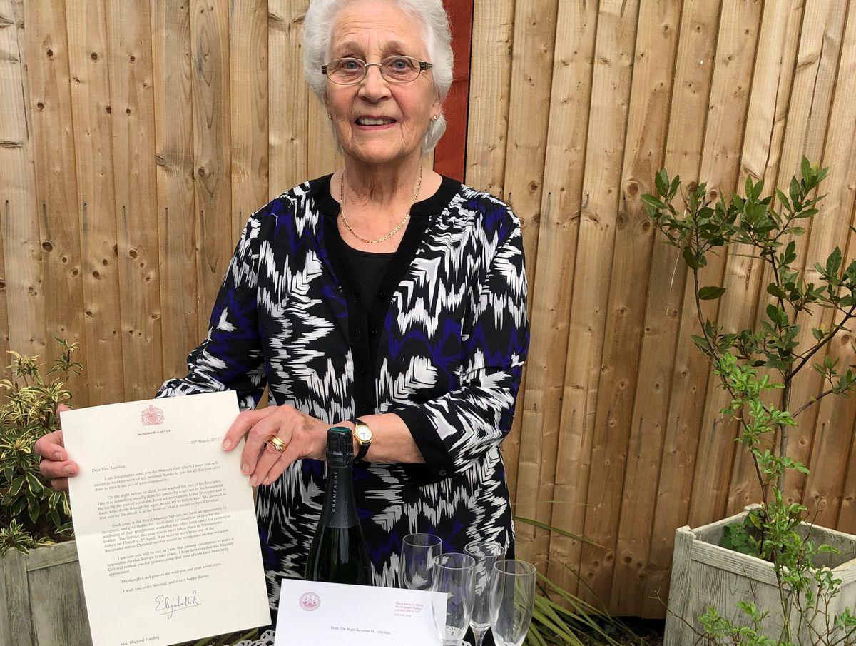 Marjorie Harding from Perton was one of 10 people across the region to receive the Maundy money