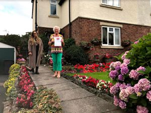 Rosemary Hunt won the prize for the best front garden