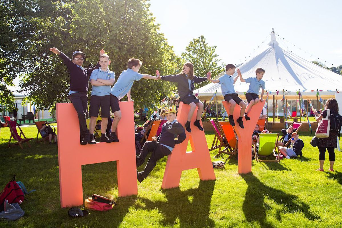 Hay Festival generates around £25m for the local economy each year, in one of the lowest income parts of the UK, while outreach work from the free Programme for Schools and Beacons Project, to Hay Academy and Hay Compass, inspires tens of thousands of young people. Photograph by Christopher Bone (Hay Festival)