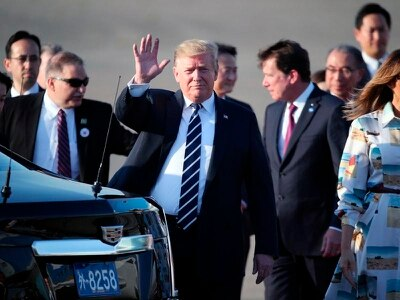 Donald Trump arrives in Japan for state visit, golf and sumo