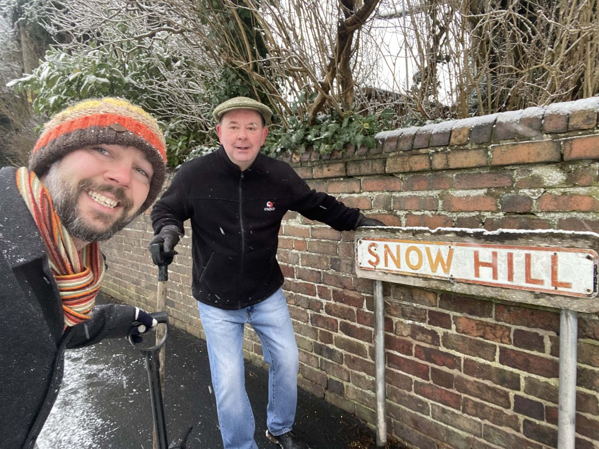 Paul Tranter and Tom Cleaton in Snow Hill, St George's