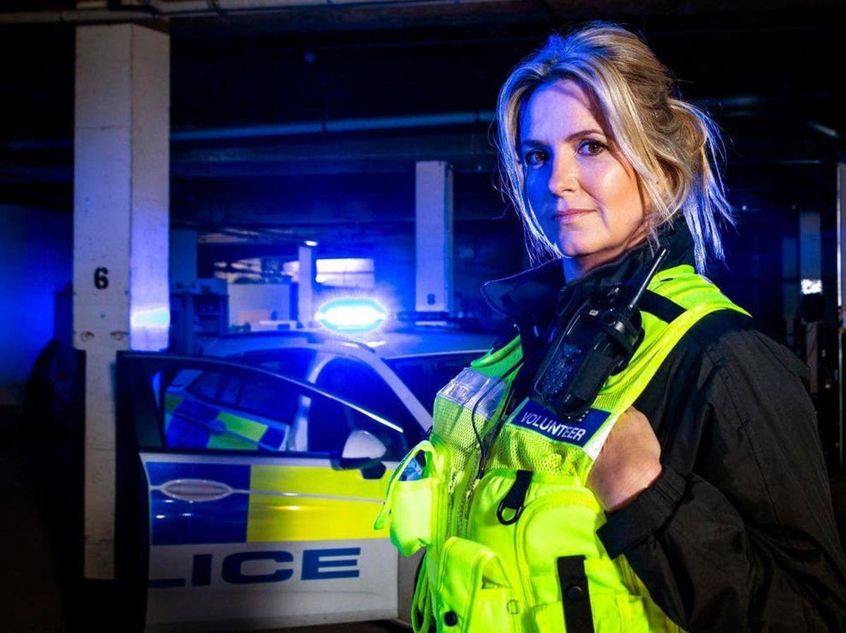 Penny Lancaster volunteers with the Metropolitan Police