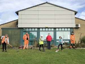 Staff and students laid the foundations for the pastoral care building at Redhill Primary Academy in Priorslee, Telford