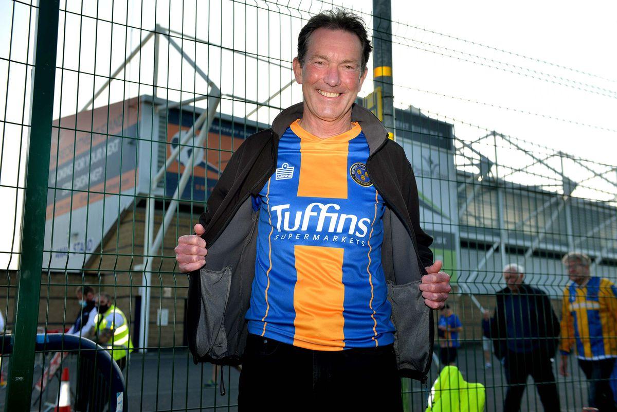 Shrewsbury Town supporter Chris Wakeman.