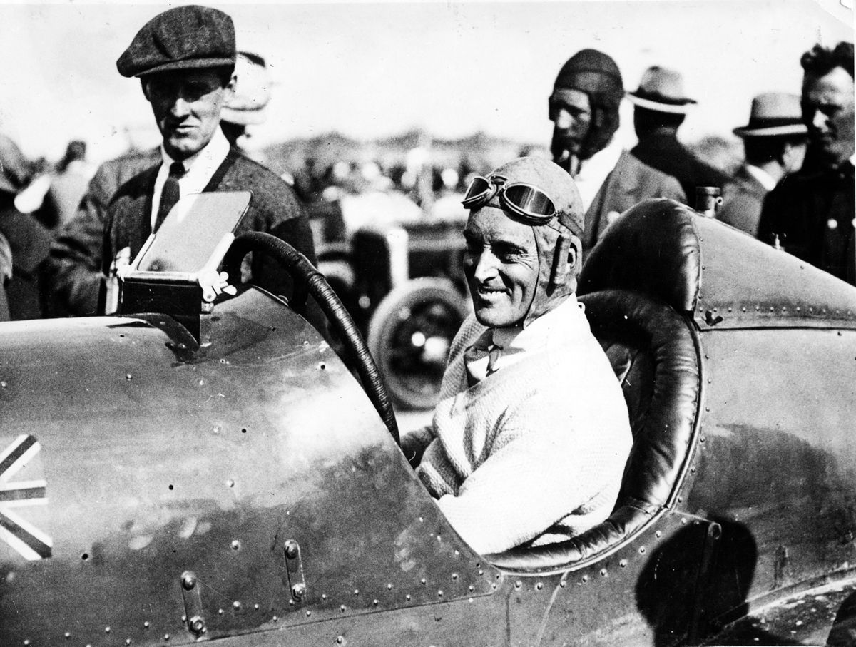 Speed king – Sir Malcolm Campbell offered tips for learner drivers in 1935