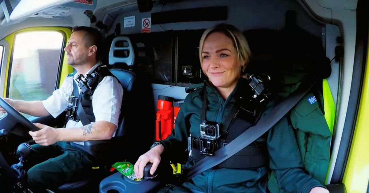 Michael Hipgrave and Deena Evans were filmed as part of a documentary looking at the work of West Midlands Ambulance Service. Picture: WMAS.