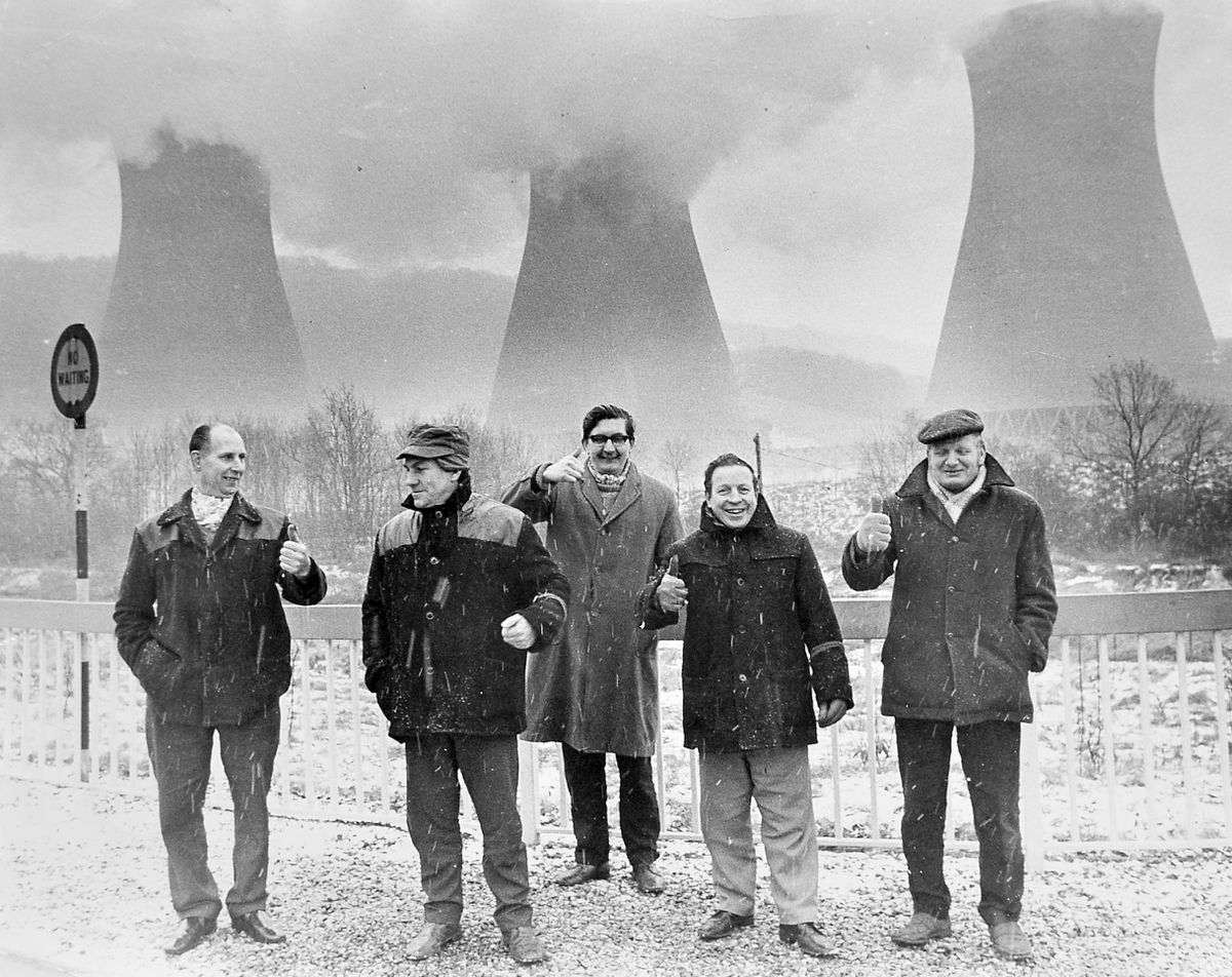 These striking miners were picketing the coal-fired Ironbridge Power Station in February 1972.