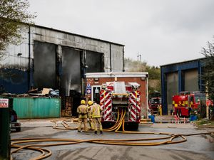 The fire at the Greenway site burned for a month