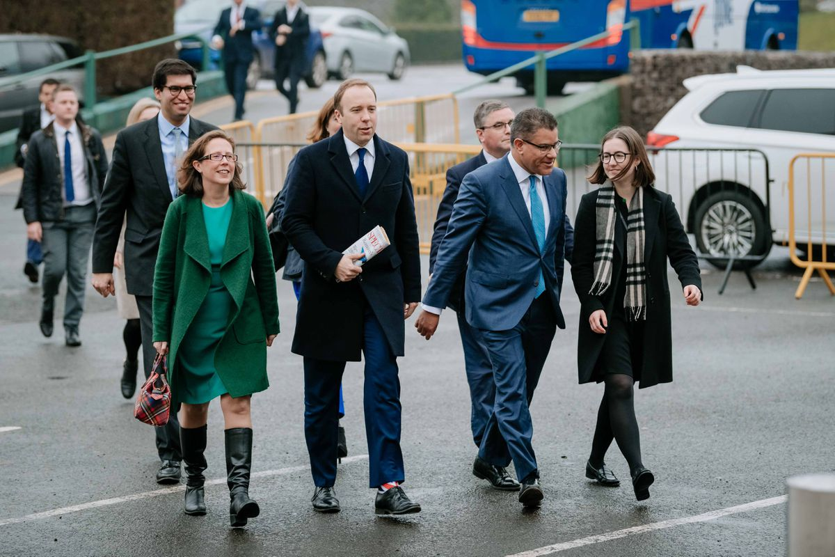 Conservative MPs arrive in Telford