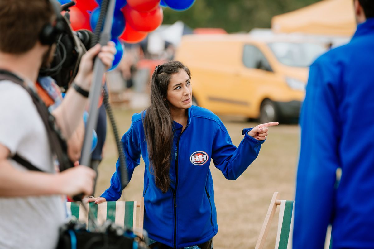 Bargain Hunt filming at a previous visit to Shrewsbury Flea Market at the West Mid Showground