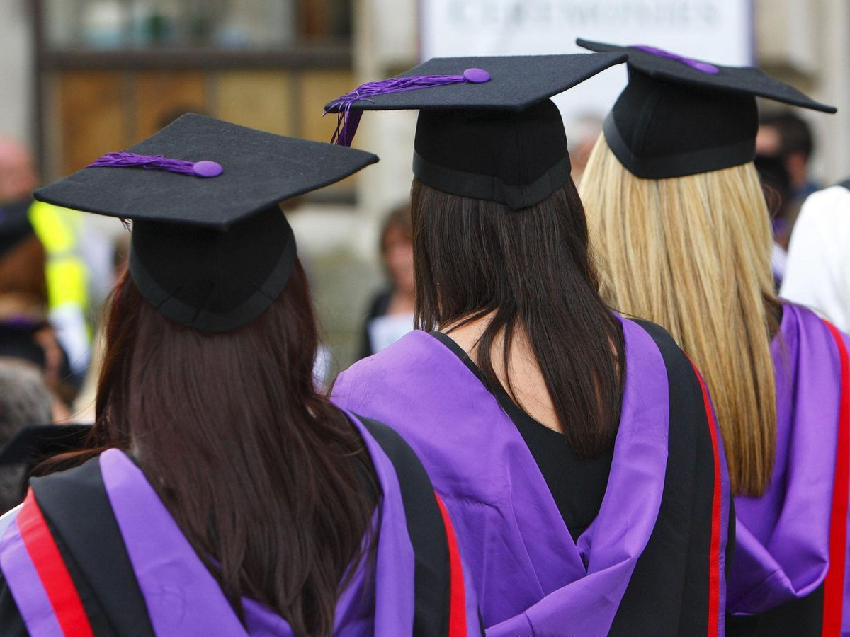 Graduates in gowns and hats