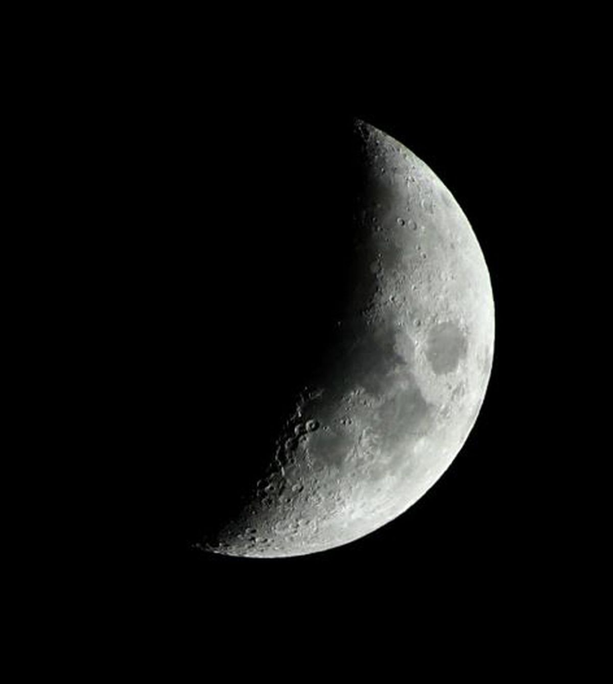 The Moon, pictured by Grant Privett of the Shropshire Astronomical Society.