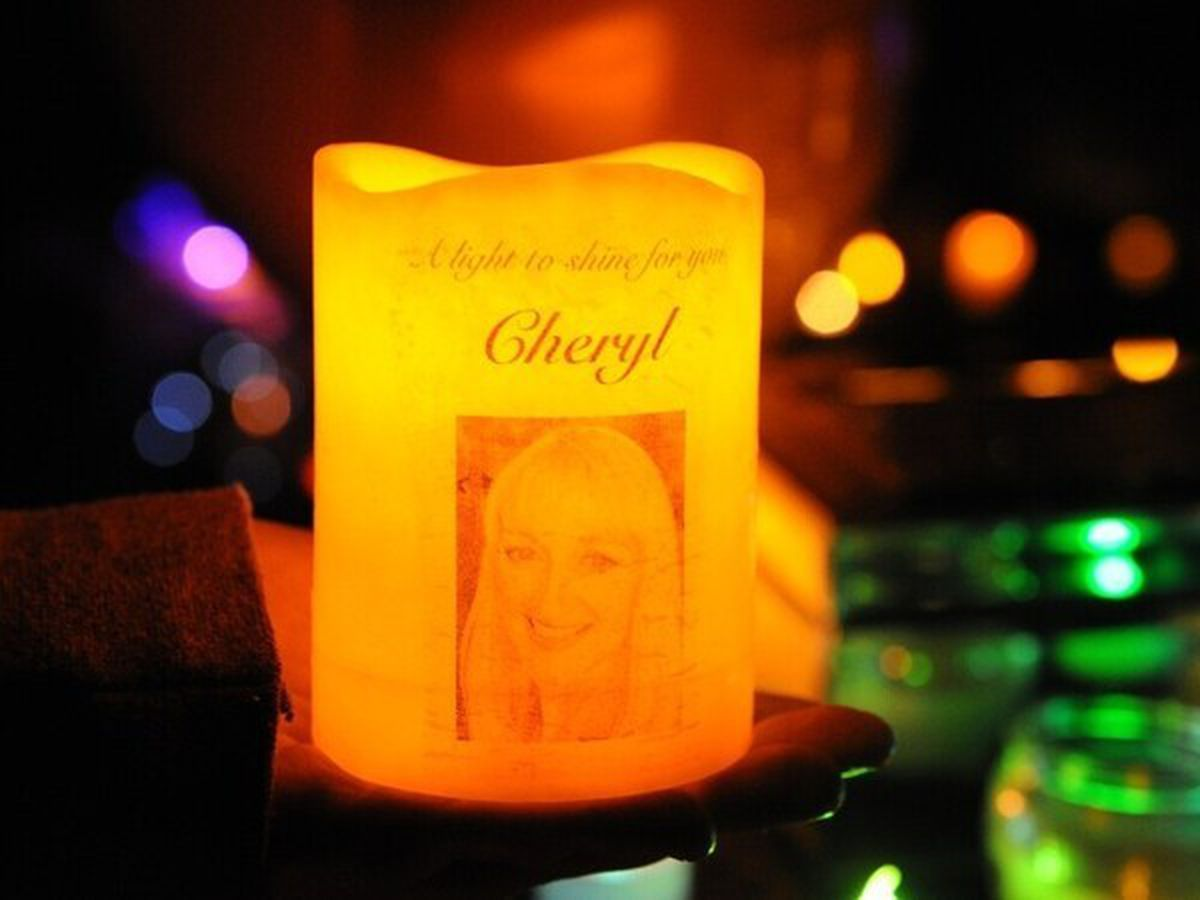 A candle-lit vigil was held in Newport in memory of Cheryl