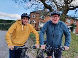 Harvey and Richard Hodgkins will cycle to London next month