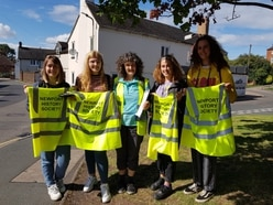 Girls pitch in with history society's bid to unearth Newport secrets