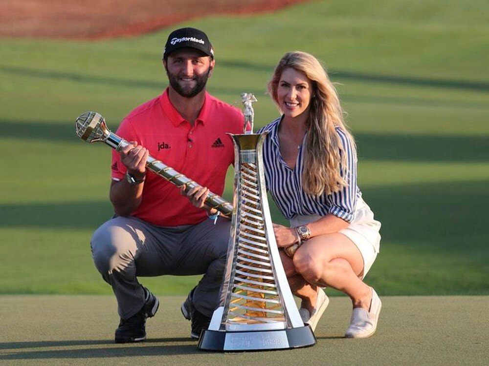 Rahm holds off Fleetwood for double Dubai delight