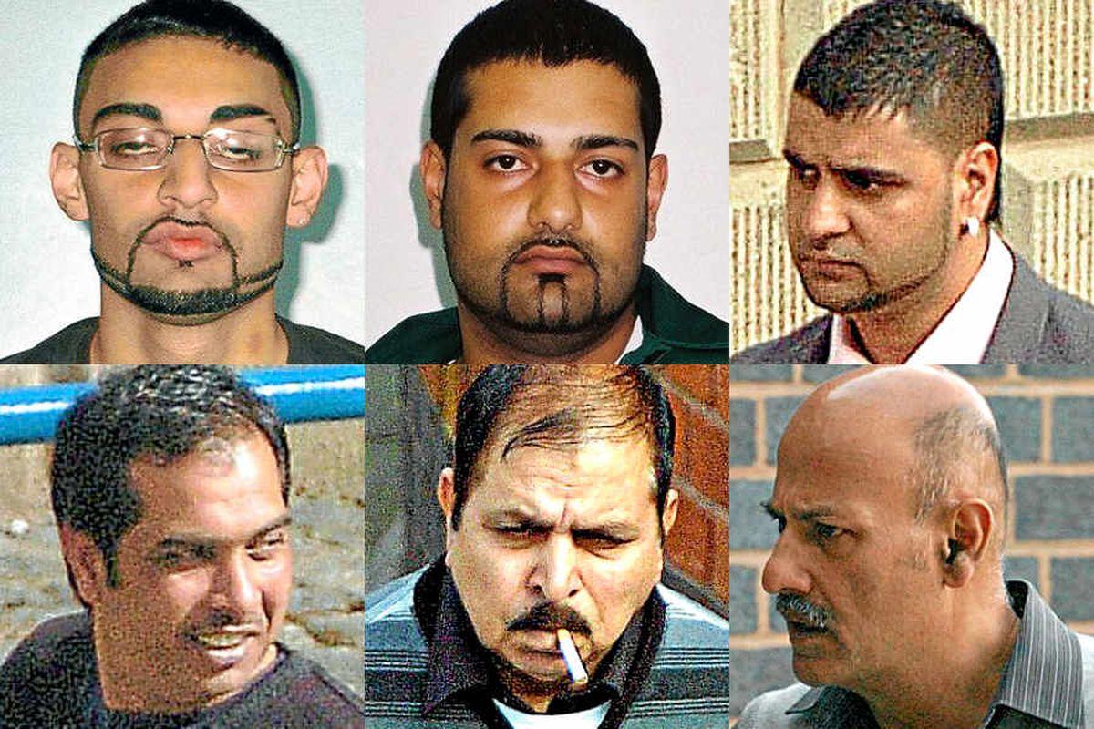 Ahdel Ali, 25, Mubarek Ali, 29, Mohammed Ali Sultan, 26, Tanveer Ahmed, 40, Mohammed Younis, 60, and Mohammed Islam Choudhrey, 53.