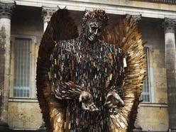 WATCH: Knife Angel sculpture in new display as 'symbol of peace'