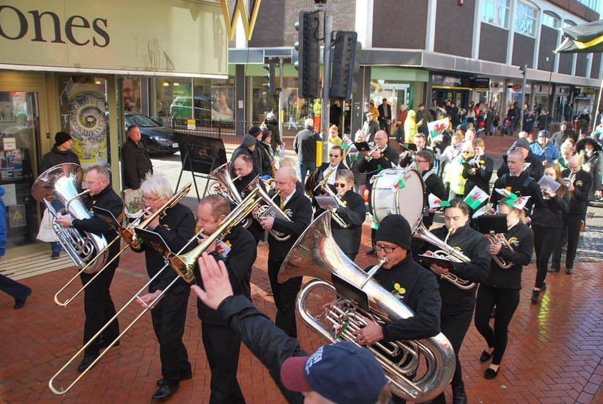 The Ifton Colliery Band in happier times