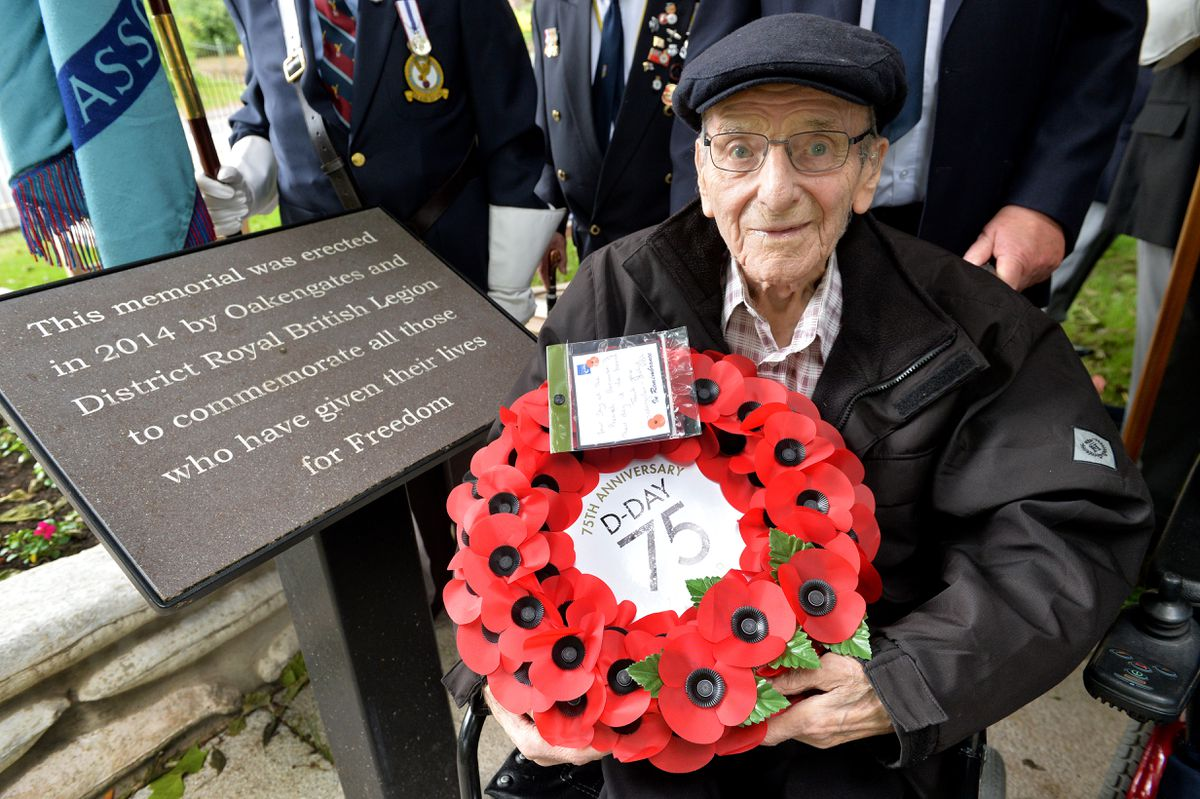 Stan at the D-Day commemoration in Oakengates in 2019.