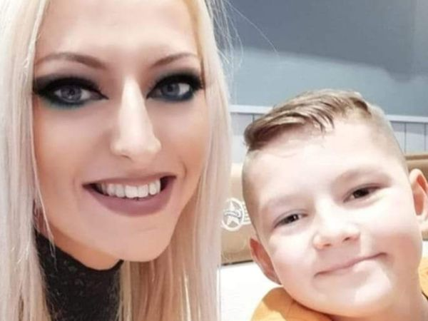 Clair Chetwood with son Dean, 11