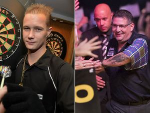 Wesley Harms, left, and Gary Anderson