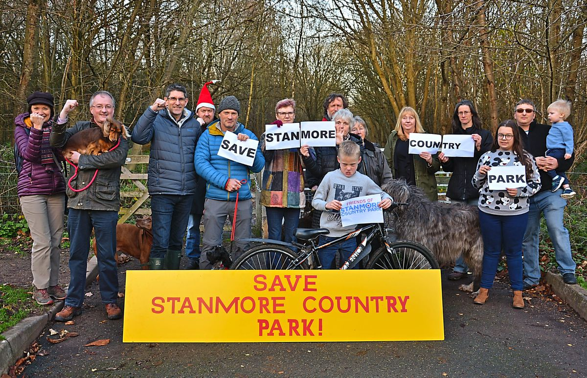 The Save Stanmore Park protest group