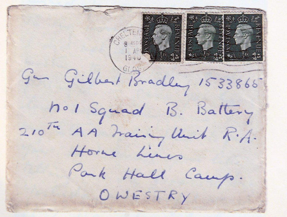 One of the letters addressed to Gilbert