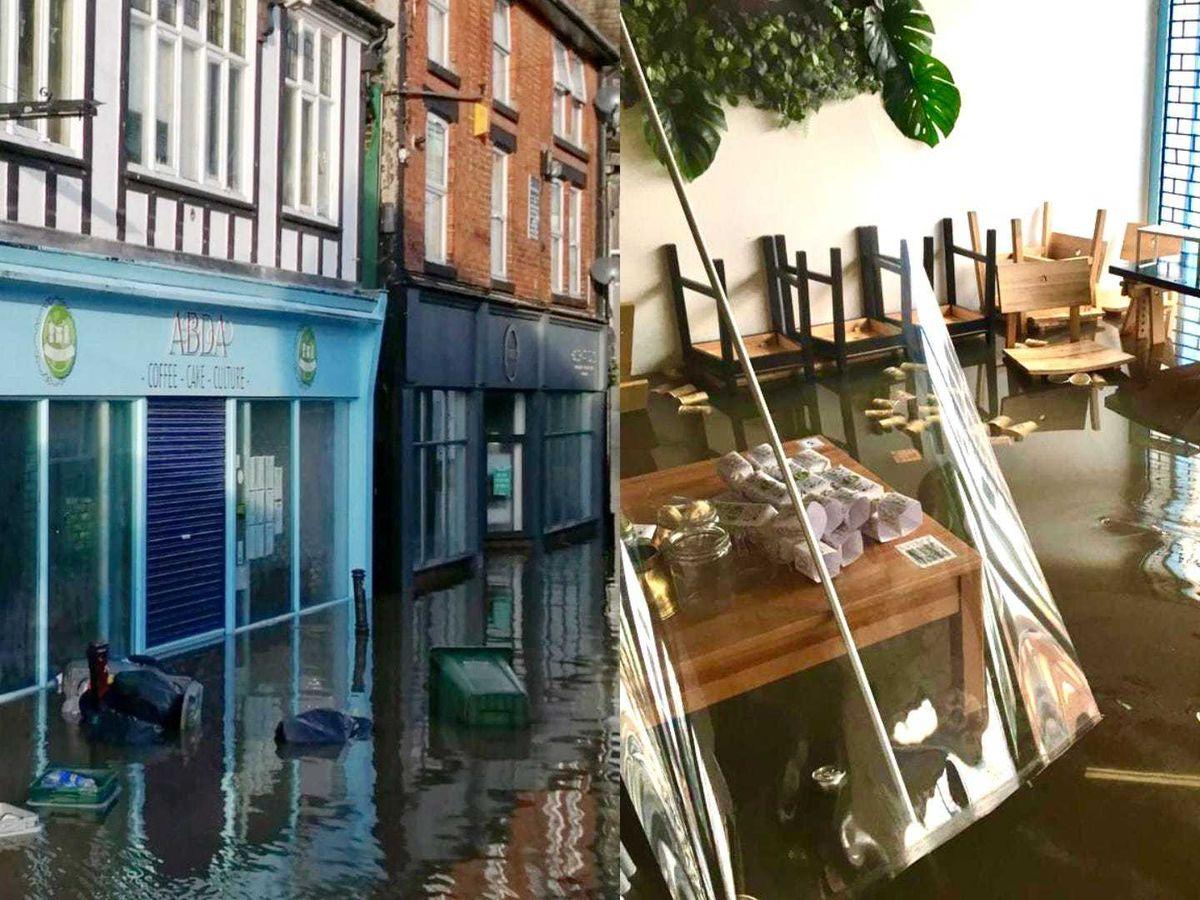 Northwich Coffee Shop Abda's was hit by flooding