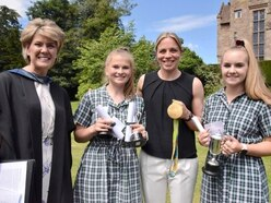 Olympian is a hit with pupils at school near Shrewsbury