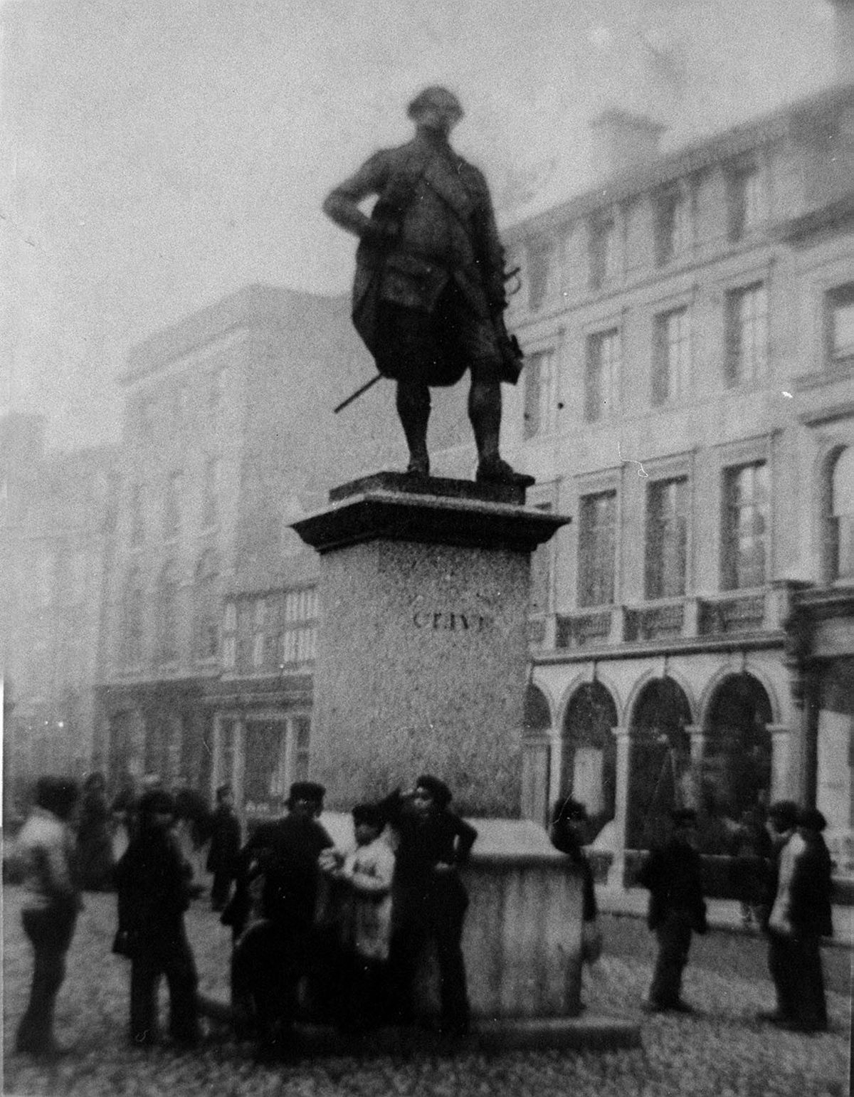 The statue was unveiled on January 18, 1860, and this picture from the collection of Shrewsbury historian David Trumper is thought to be from about that time.
