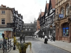 Clever pictures mix together Shrewsbury's old and new