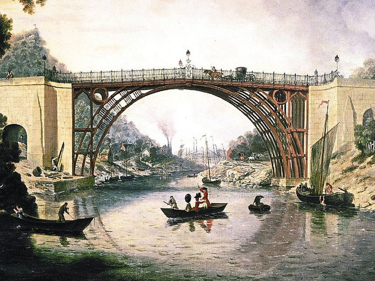 Artist William Williams' 1777 painting captured the Iron Bridge as it was intended to look – and today English Heritage revealed the iconic landmark was to return to its original red hue