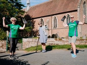 At St Andrew's Church are, from left: Helen Reid, Reverend Zoe Heming and Sarah Higginson