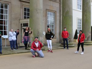 Students and staff 'cross-dressed' for a day to fundraise for Comic Relief