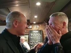 WATCH: Wolves fan's delight as hero Steve Bull flies to Jersey for a pint